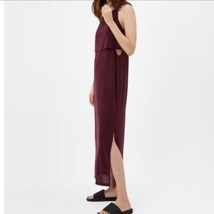 Sweaty Betty Holistic Racerback Maxi Dress, Burgundy Red size Xsmall
